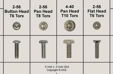 4-40 Stainless Steel Screws - 100