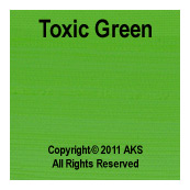 Toxic Green G10 - 060-in - 11-5-in - 8-5-in